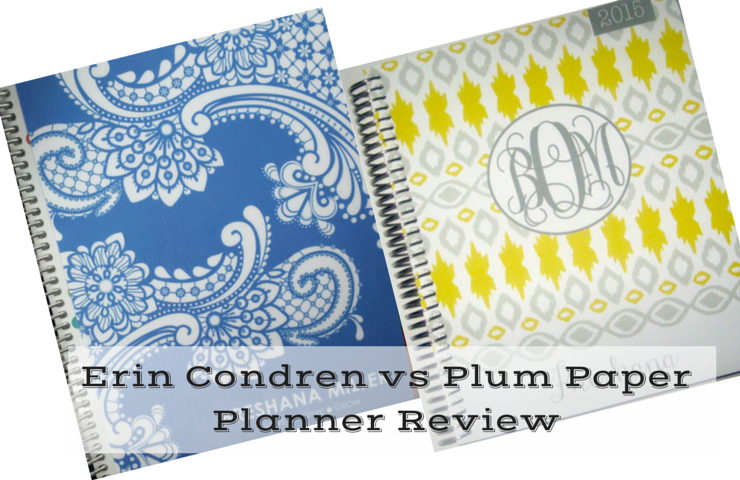 A comparison review of the Erin Condren vs Plum Paper Planners.