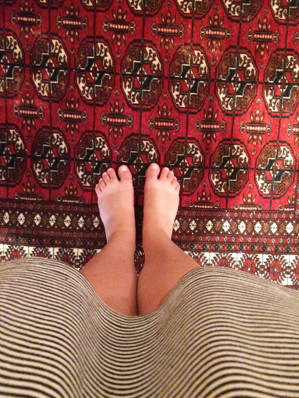 I love this rug in our apartment.