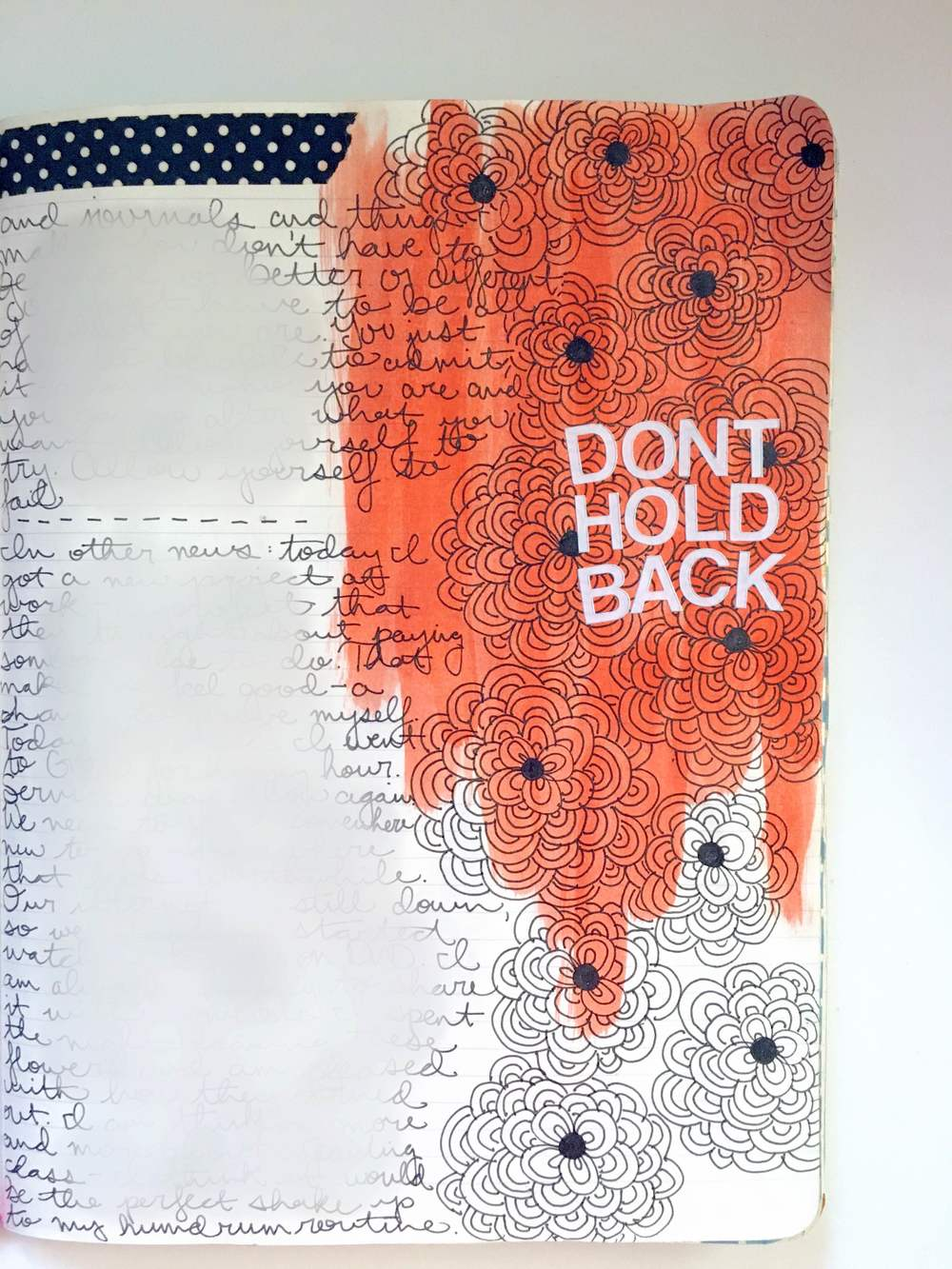 Anything Goes Art Journal Orange