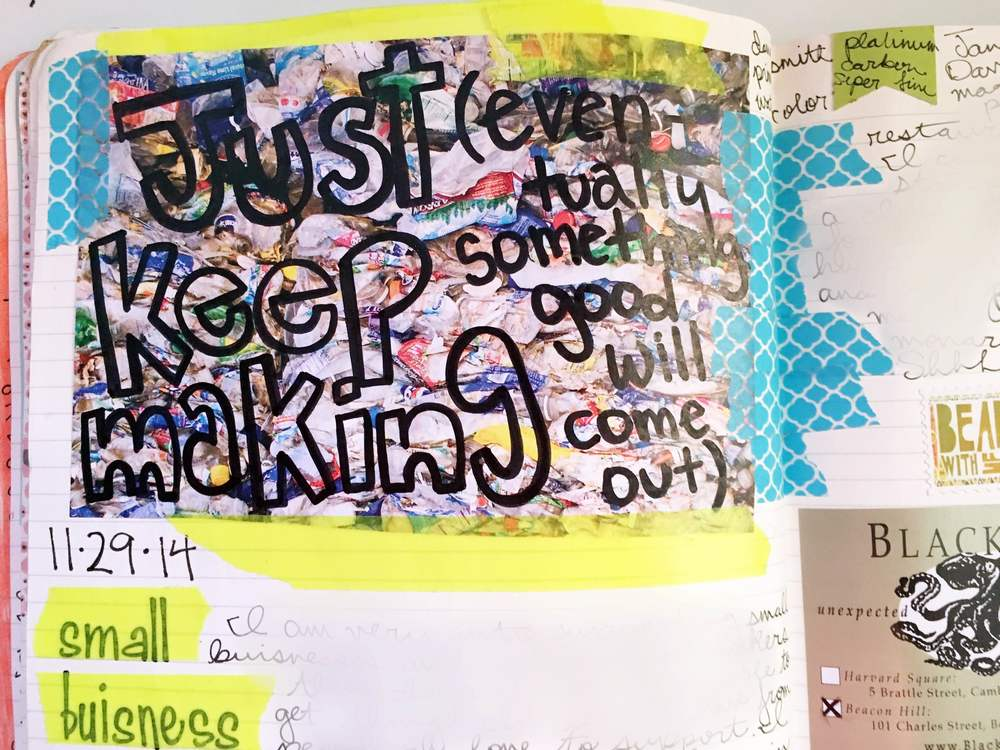 Anything Goes Art Journal Keep Making