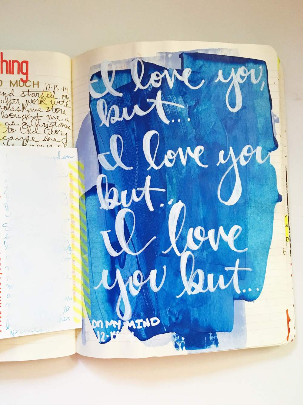 Anything Goes Art Journal Paint Love But