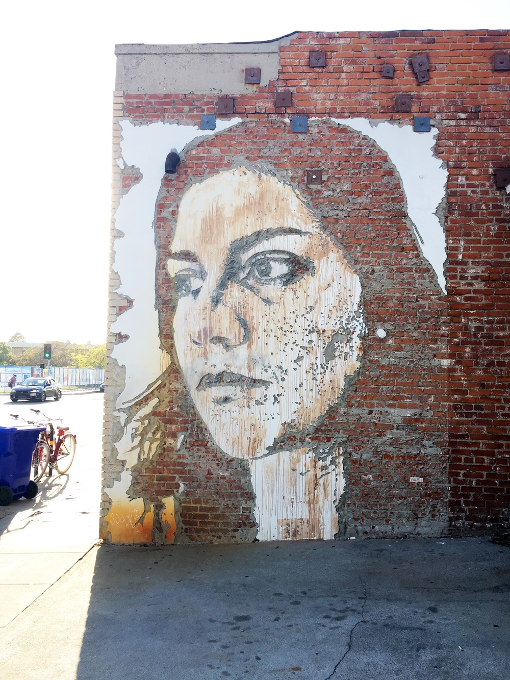 Amazing street art by Vhils. This is created with explosives.