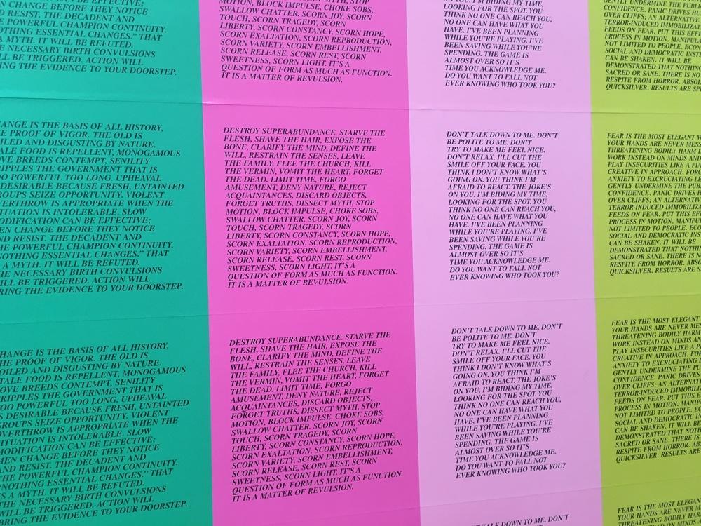 Jenny Holzer's Inflammatory Essays. Jenny Holzer is my icon.