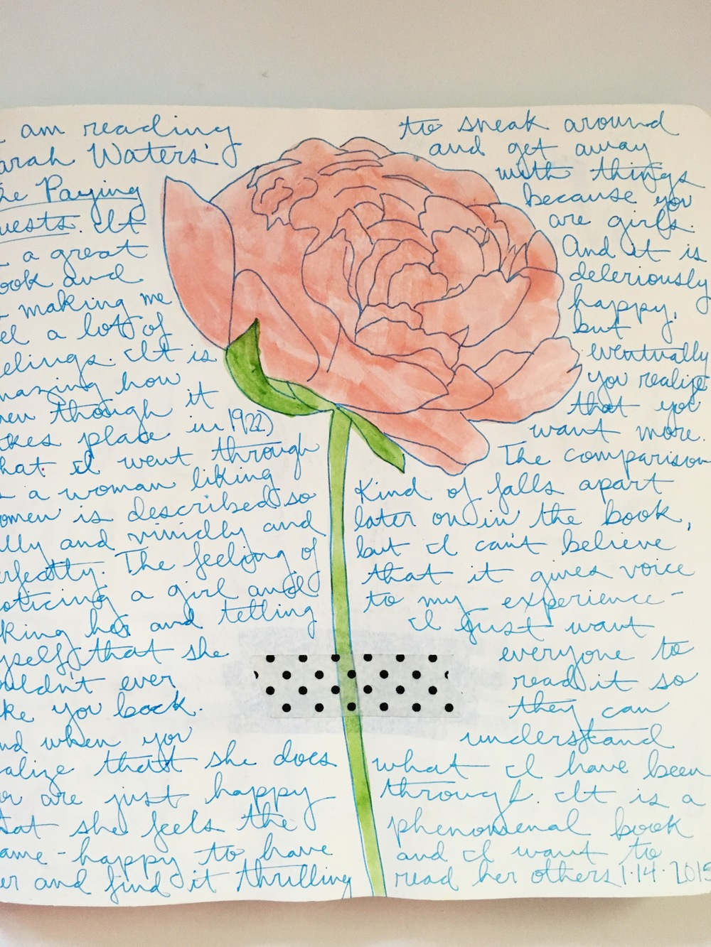 Anything Goes Journal Watercolor Flower