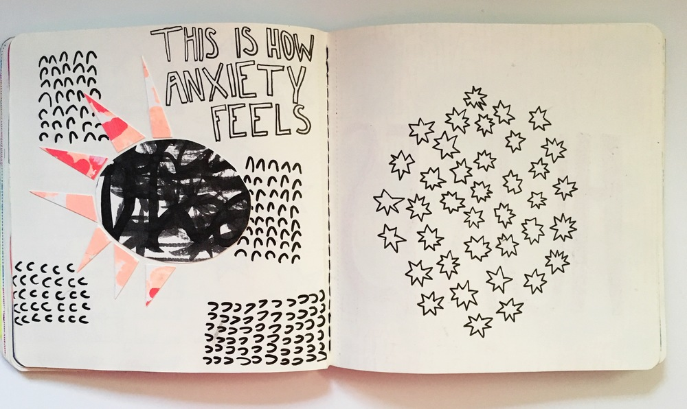 Anything Goes Art Journal Anxiety