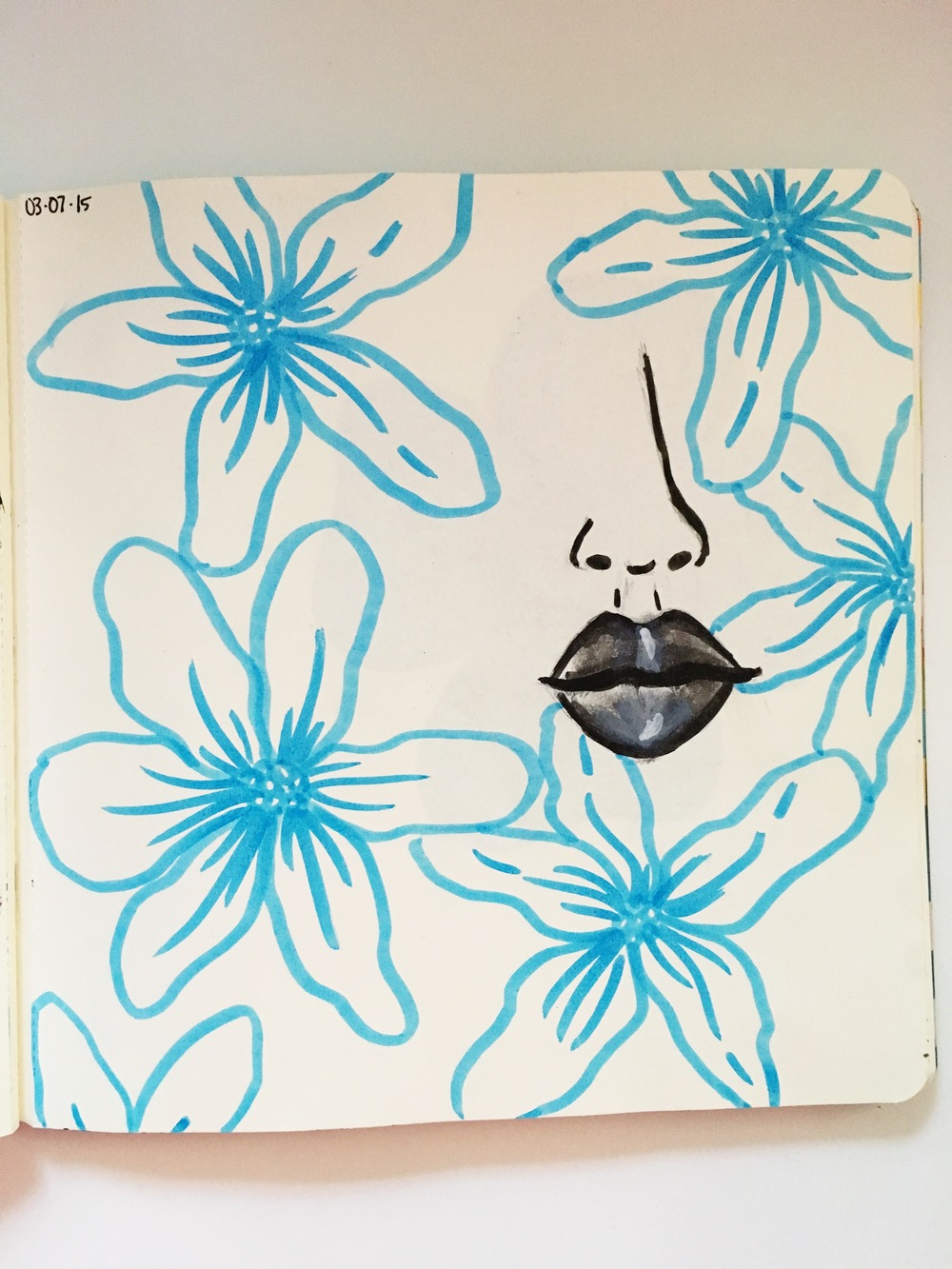 Anything Goes Art Journal Lips