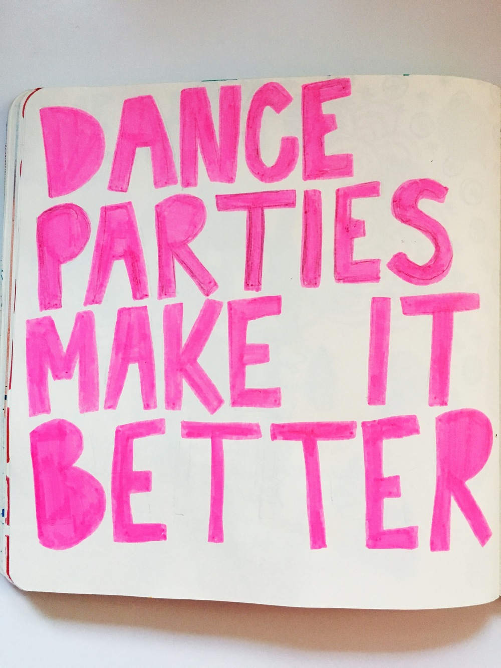 Anything Goes Art Journal Dance Parties