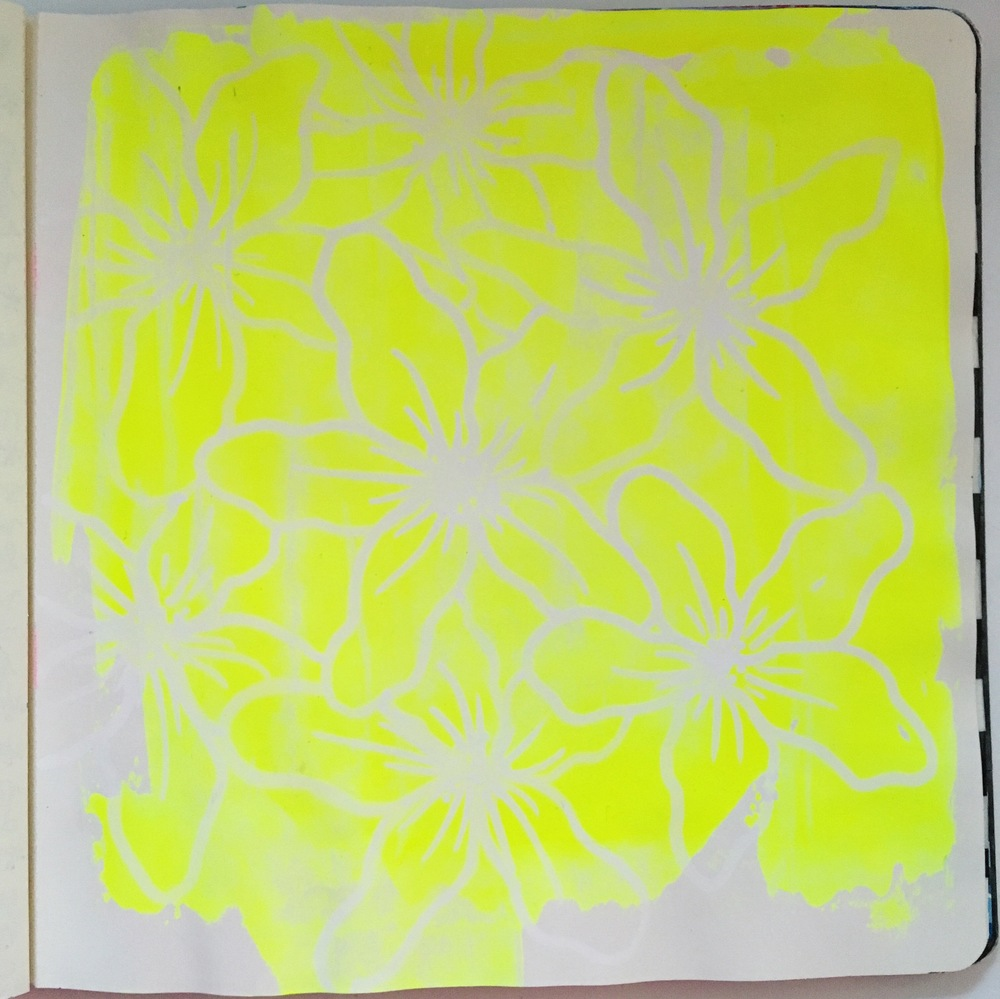 Anything Goes Art Journal Neon Flowers