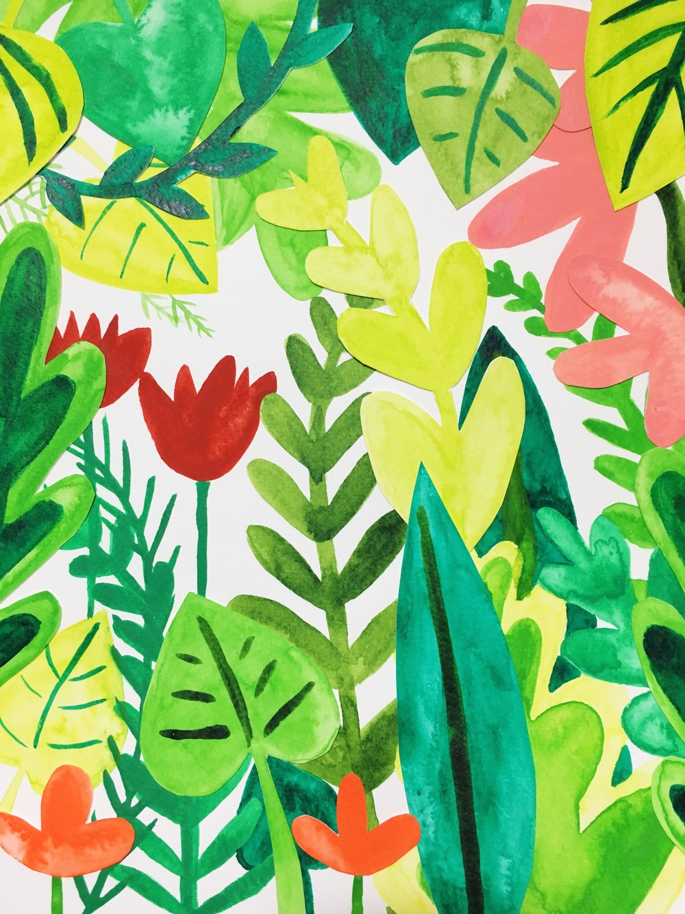 100 day project jungle collage