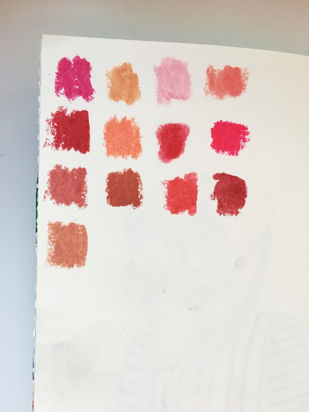 Art Journal Lipstick Swatches