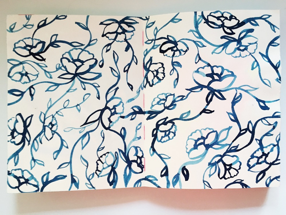 Art Journal Floral Pattern