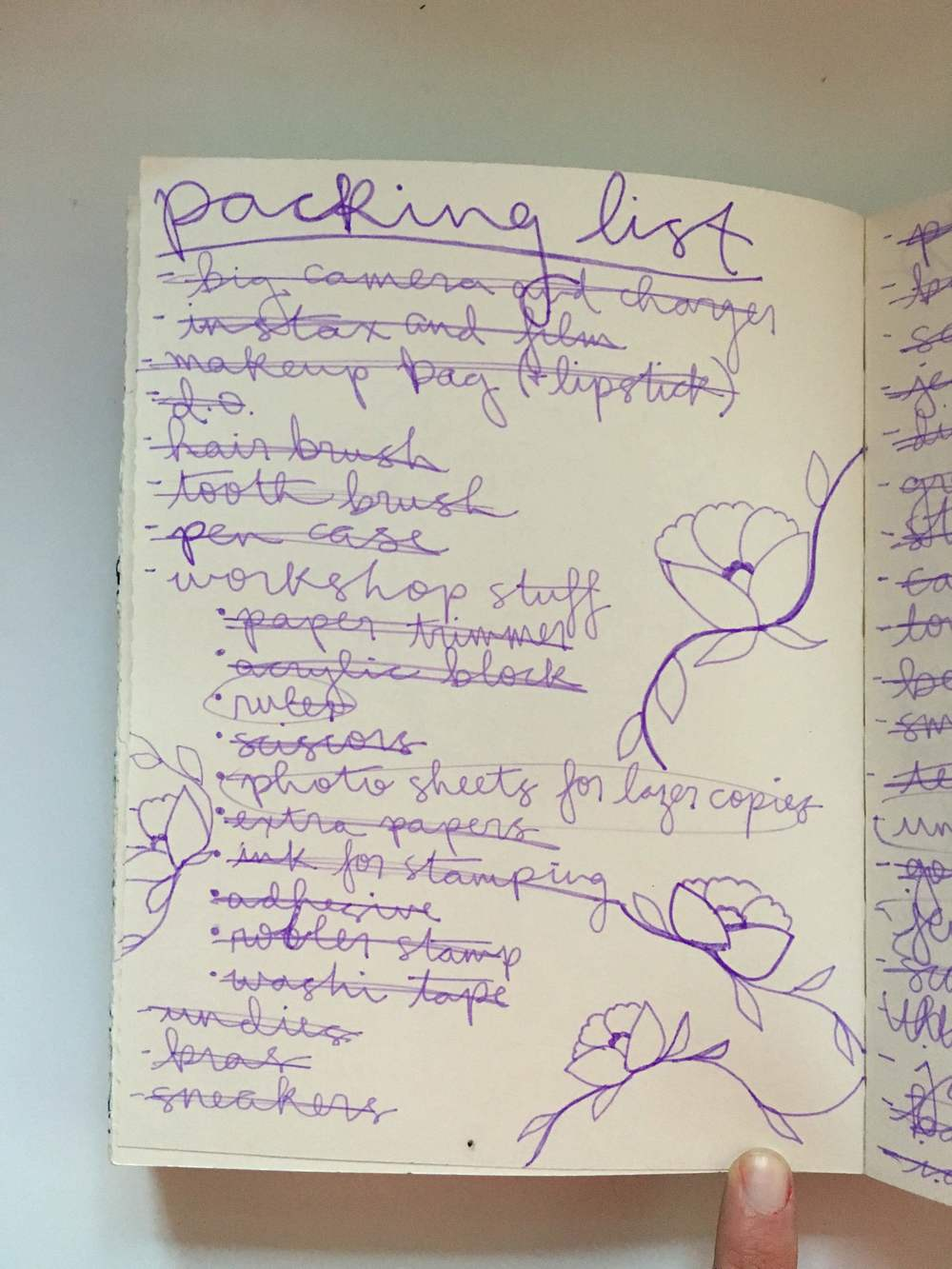 Art Journal Packing List