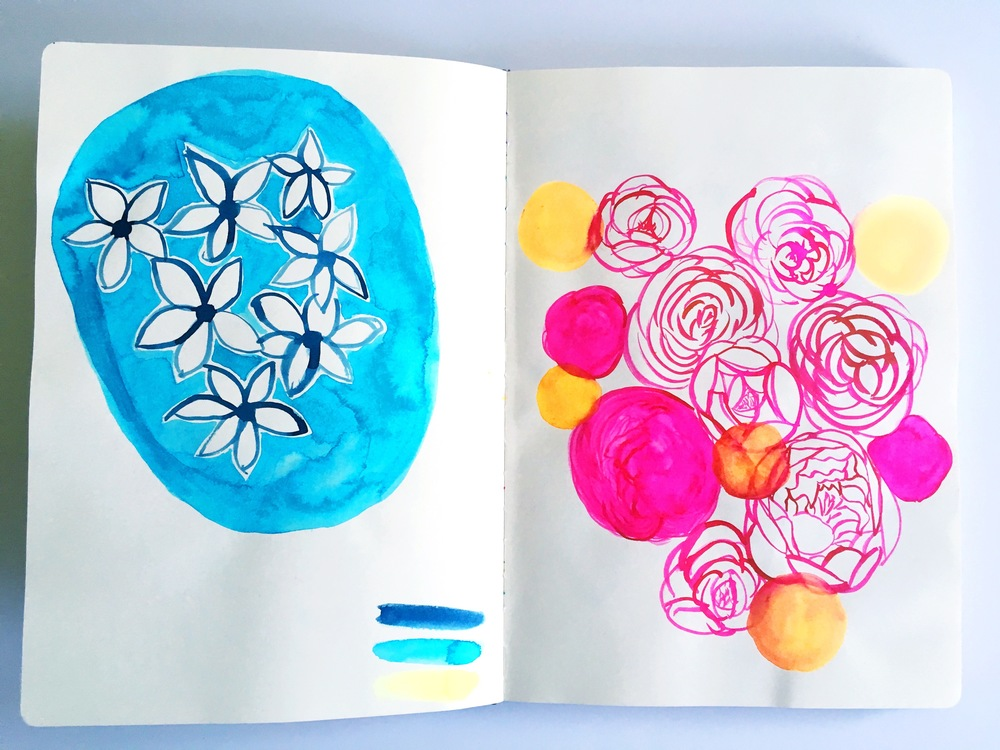 sketchbook floral