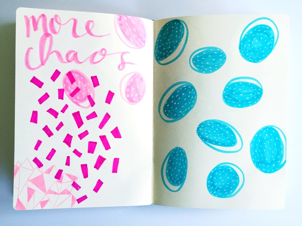 more chaos pattern sketchbook