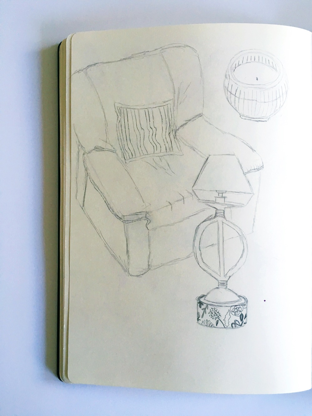 furniture sketchbook sketch