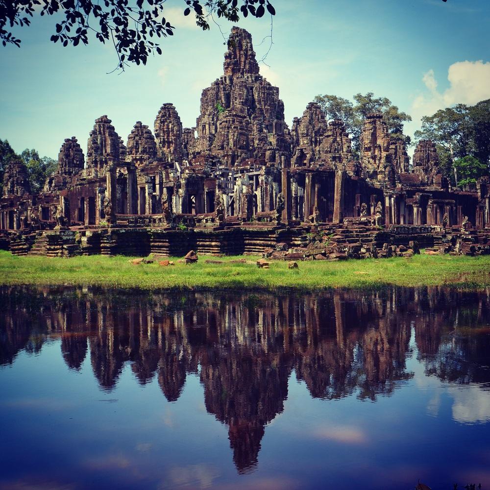 Bayon Temple reflection.