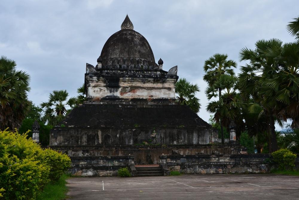 """The """"watermelon stupa"""" at Wat Visoun."""