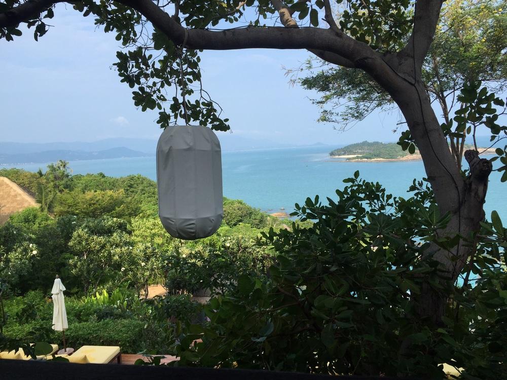 Breakfast spot at Koh Samui resort.
