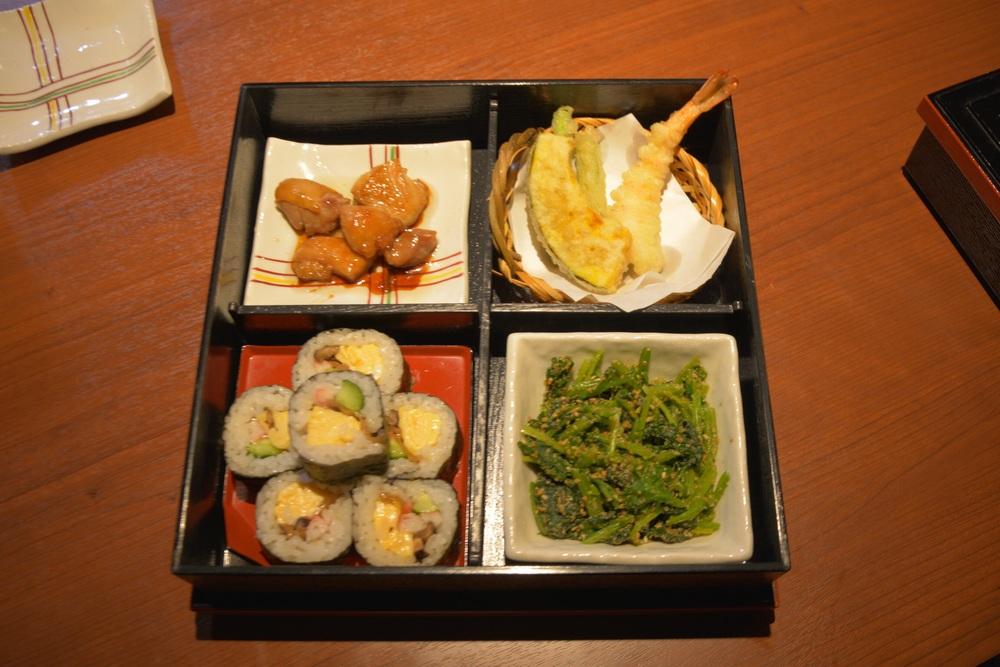 Bento Box lunch creation.