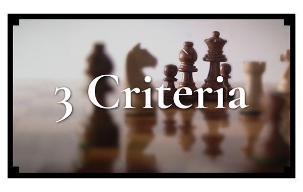 The Three Criteria For Good Content