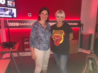 Helen with Kat Orman, from BBC Radio Oxford