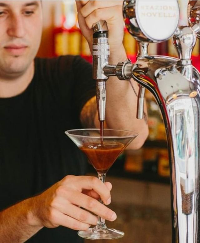 Join us for Espresso Martini and Arancini nights, where from 9pm guests can enjoy $48 Espresso Martinis from our custom-made tap, along with three kinds of complimentary, freshly made Italian Arancini. . . . #blacksheeprestaurants #hkfood #hongkong #food #foodie #stazionenovella #winebar #drinks #italianfood #aperitivo