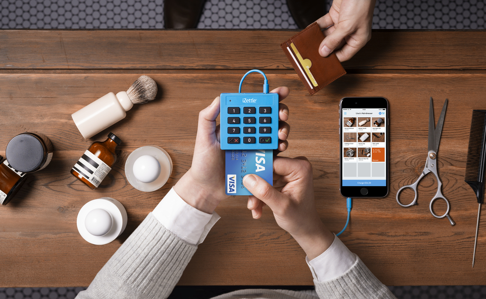 Izettle Logo - Card transactions easily done through mobile phone.