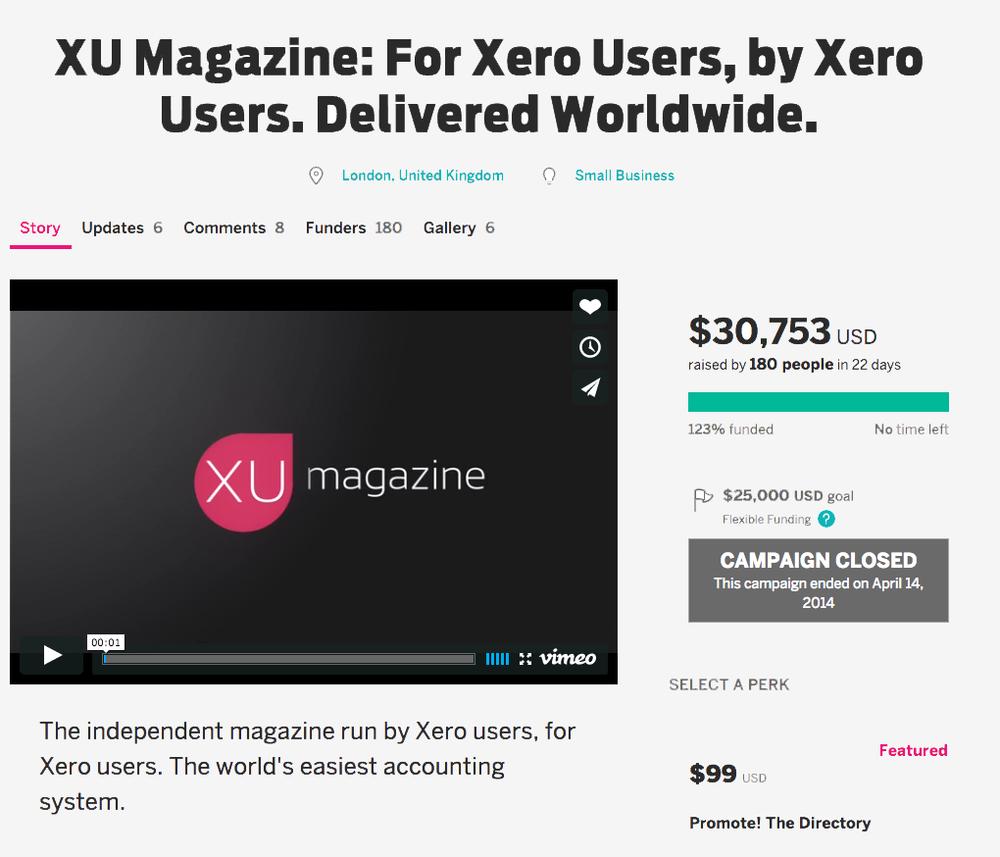 XU Magazine Crowdfunding IndieGoGo