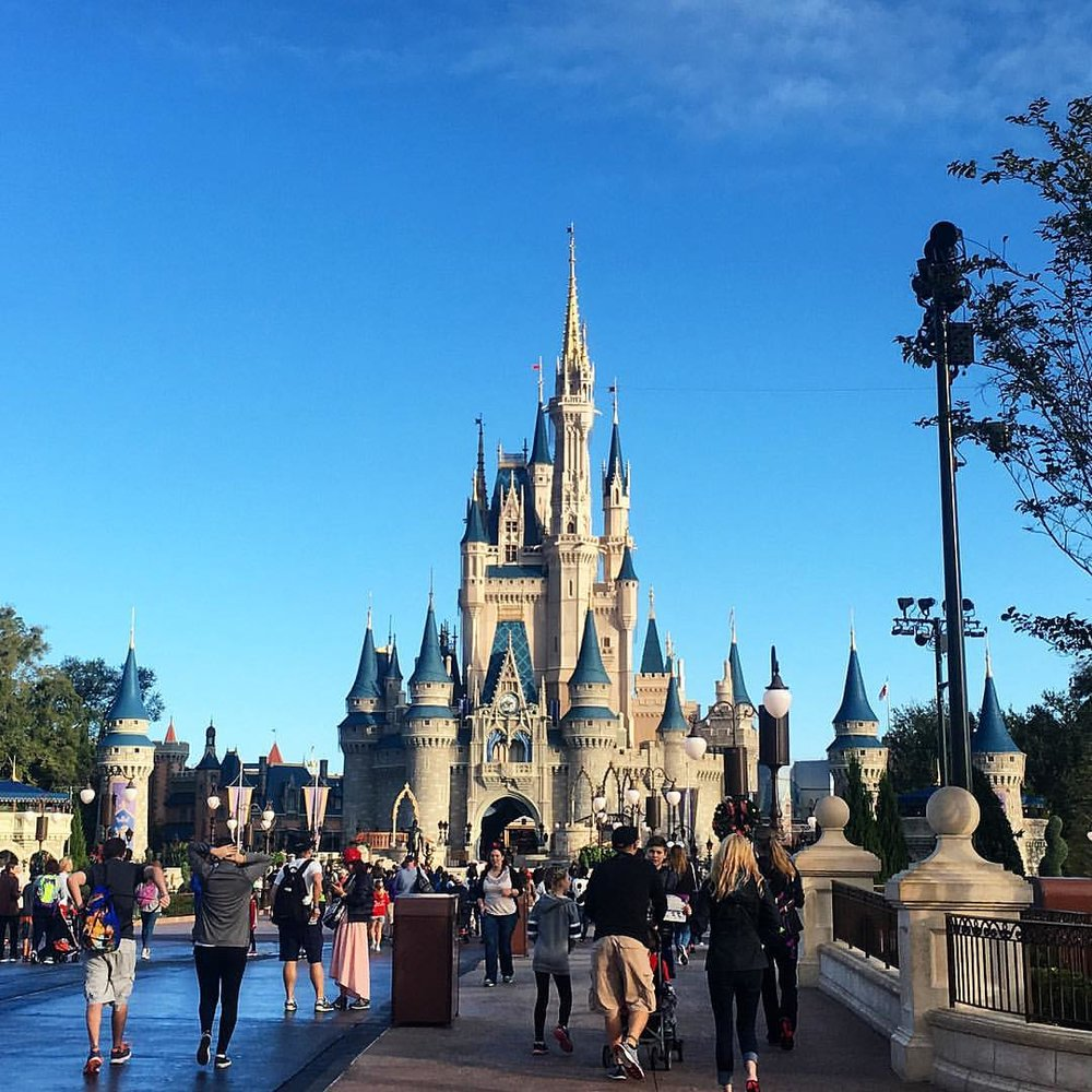 Cinderella's castle at the Magic Kindom