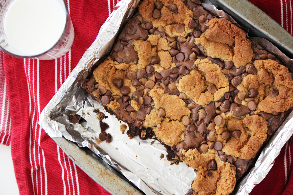 Brownie and peanut butter cookie recipe