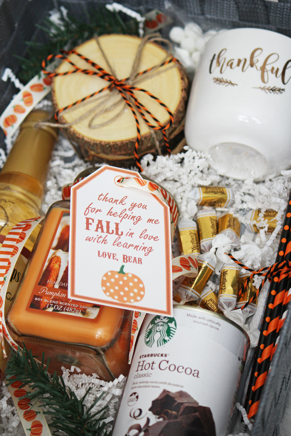diy fall gift basket — hello honey