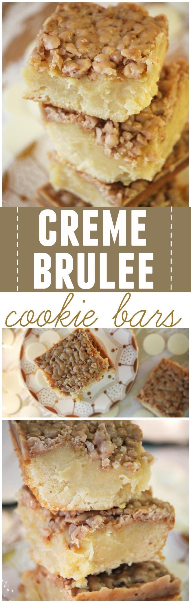 creme brûlée cookie bars — Hello Honey