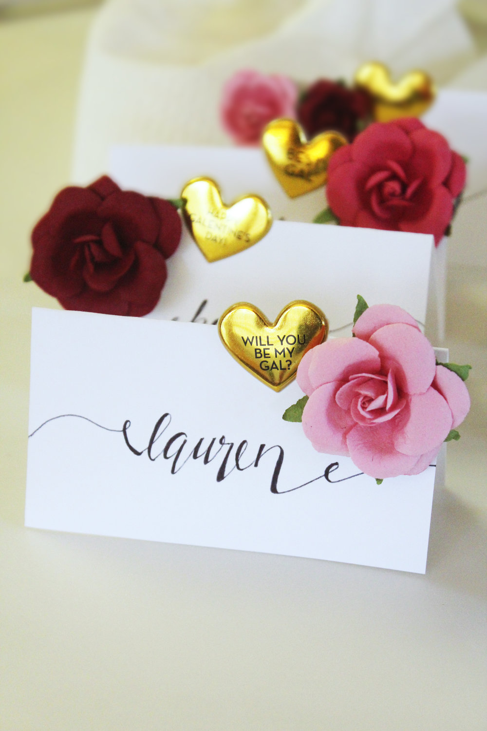 Diy Valentines Day Place Cards Hello Honey