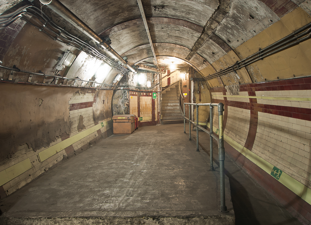 An abandoned Tube stop. Source.
