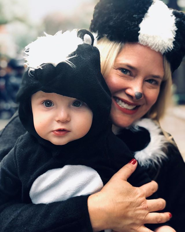 Happy Halloween from our little stinker! #happyhalloween #skunks #babysfirsthalloween 🎃