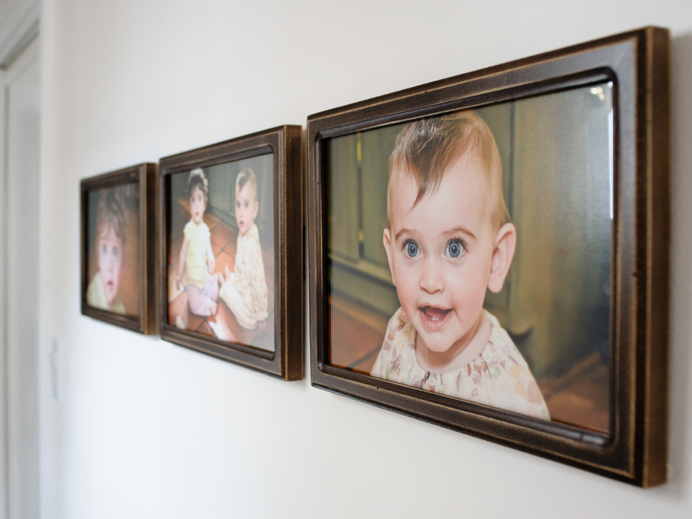 Matching frames I found in a fabulous Etsy shop showcase a triptych of fraternal twin girls.