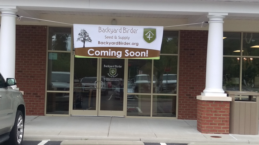 Banner up for now until signage is finished from Fine Signs & Graphics, Inc., Williamsburg, VA.