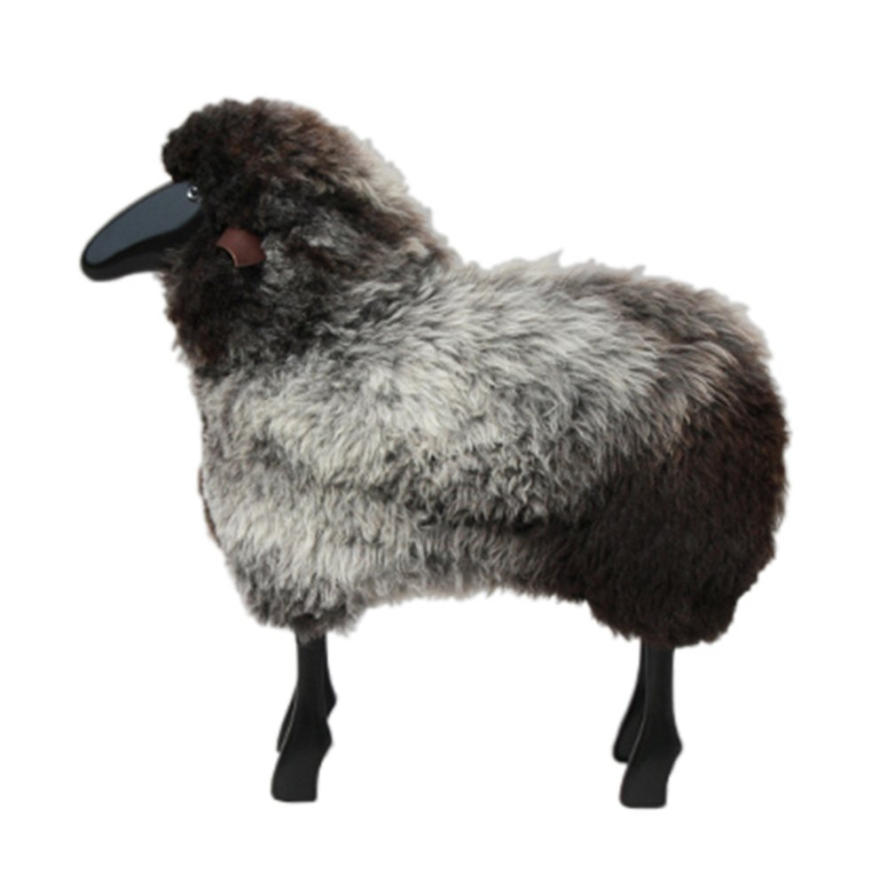 Life Sized Sheep Stool Grey Brown