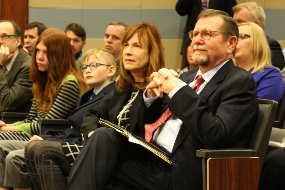 Family at the swearing in ceremony