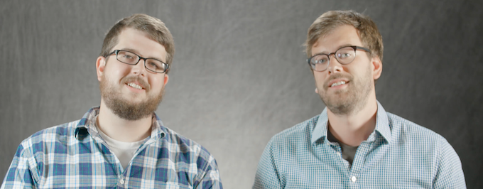 THREADIES FOUNDERS ANDREW JONES (LEFT) AND STEVE LEHMANN (RIGHT)