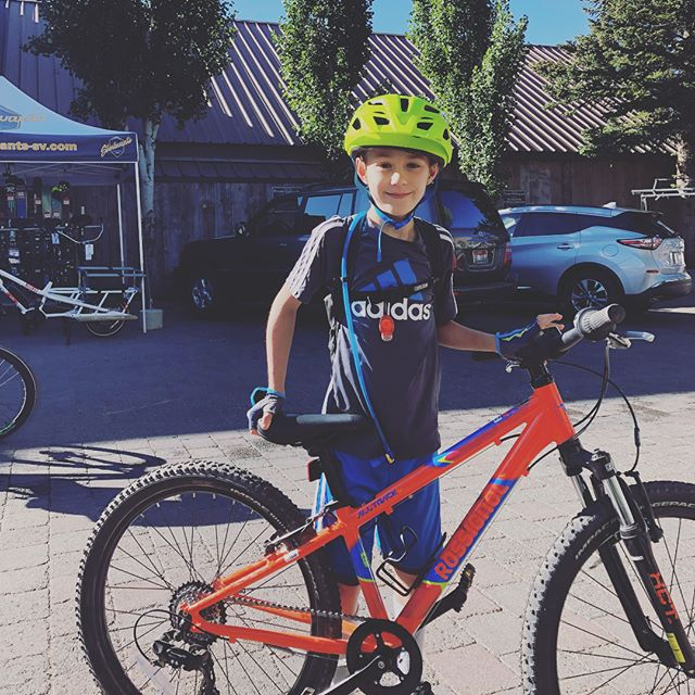 Happy kiddo with new @rossignol bike at @sturtevants_sv  MTB camp! They still have few spots left for August 6-9, book it today - it's so worth it. Their instructors make #mountbiking fun!