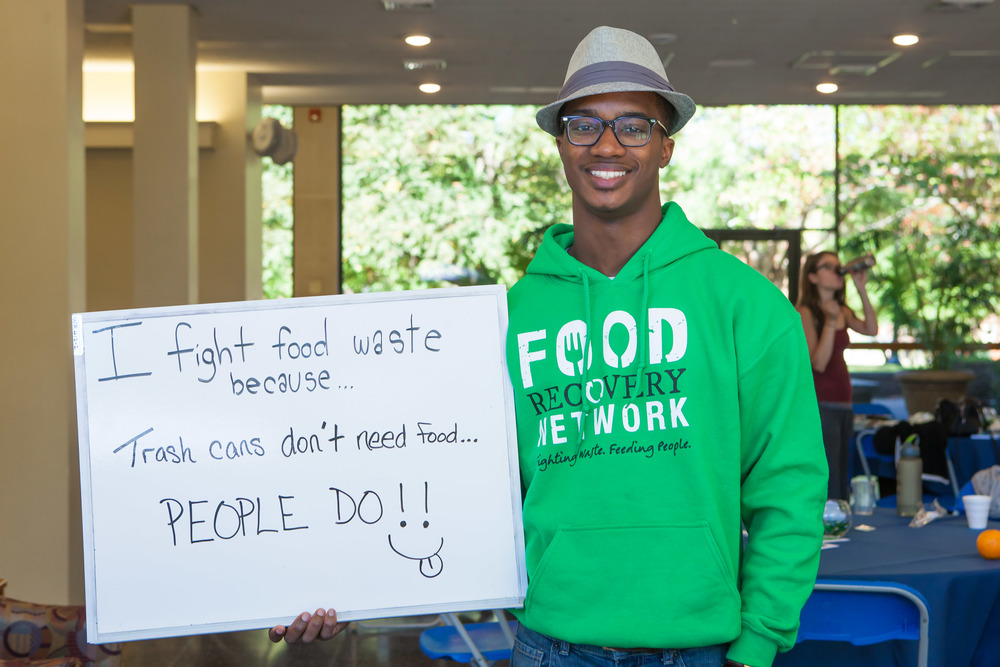 "Tarik from University of Rochester answers the question, ""Why do you fight food waste?"" at the FRN Fall 2014 Eastern Regional Summit at Lycoming College in Williamsport, Pennsylvania"