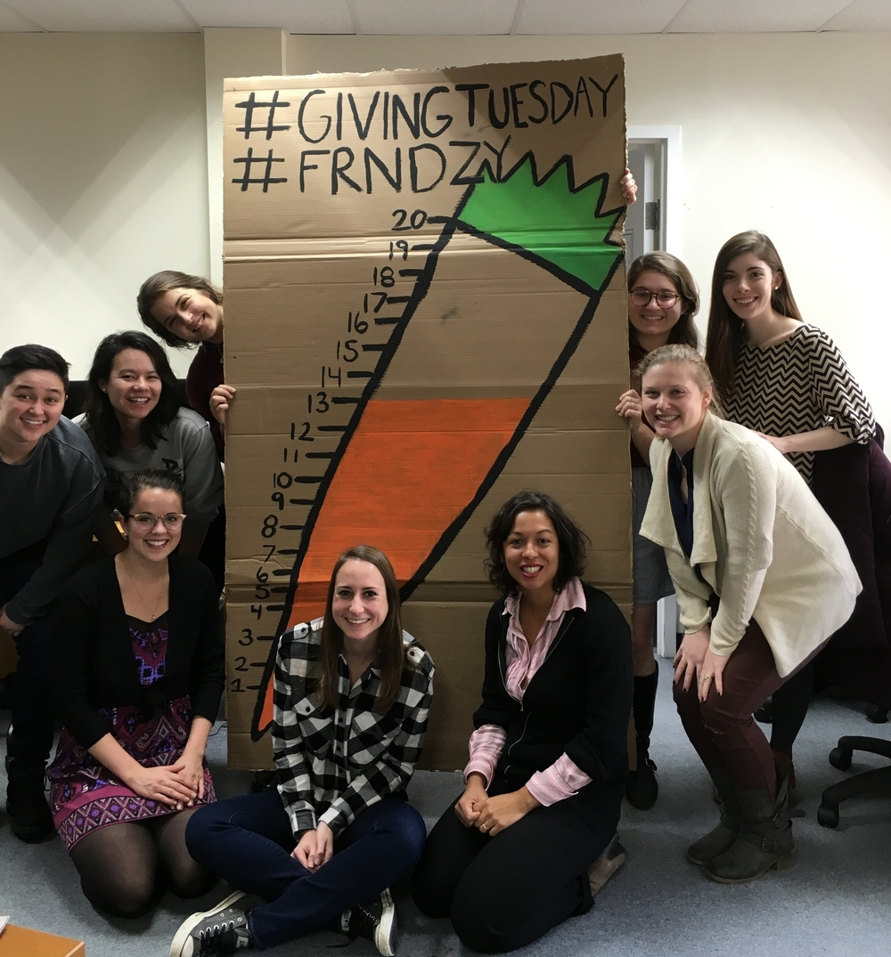 The FRN National team celebrates raising nearly $13,000 through the 2015 #GIvingTuesday #FRNdzy.