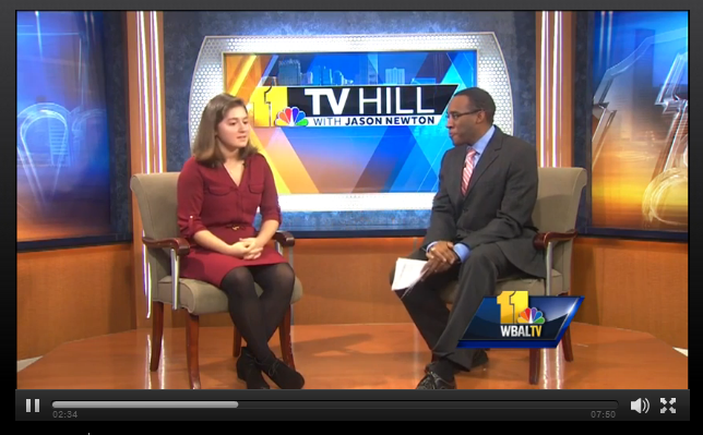 FRN Member Support Fellow talks with 11 TV Hill host Jason Newton about FRN's work in the Baltimore community.
