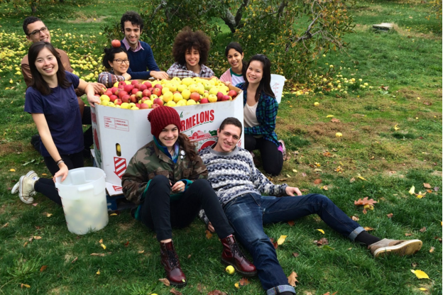 Brown University's chapter gleaned 1,450 lbs. of apples from Pippin Orchard in November.