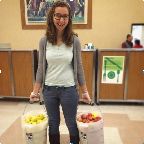 FRNds at Brown asked: what does one do with 1,450 pounds of recovered apples?