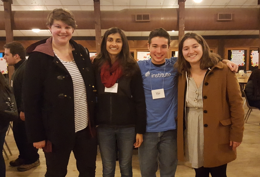 Erin and Hannah (on either end) met awesome student leaders from the University of Maryland at The LeaderShape Institute this past January.