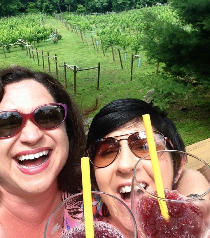 Courtesy of facebook memories, here I am (on the left) enjoying a wine slushie with my best friend. The picture from 2 years ago made me smile this morning. Except… now I see the glaring yellow straws! Cringe!  My goal is that two years from now, you can't spot a disposable item in my happy moments.