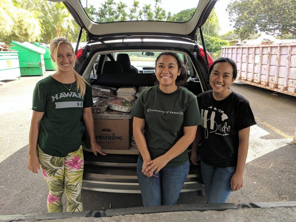 Left to Right: Olivia K., Keala S., Jessica P.