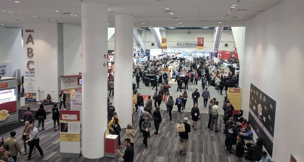 The entrance into the Moscone Center, South Hall, as the 2018 Winter Fancy Food Show is in full swing.